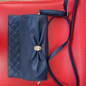 Blue crossbody purse
